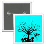 Negro y botón de hadas fantasmagórico azul de la a pins