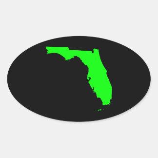 Negro y cal la Florida Pegatina Ovalada