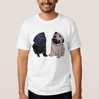 Negro y camiseta de los perritos del barro amasado playeras