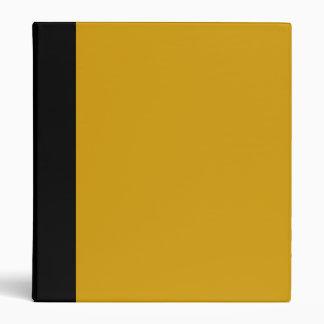 Negro y carpeta del oro