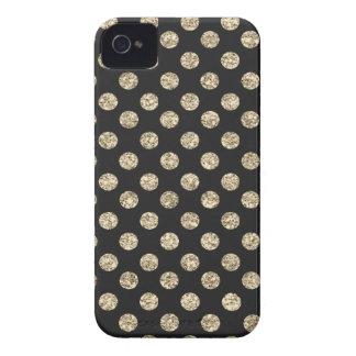 Negro y caso del iPhone 4 de los lunares del Case-Mate iPhone 4 Fundas