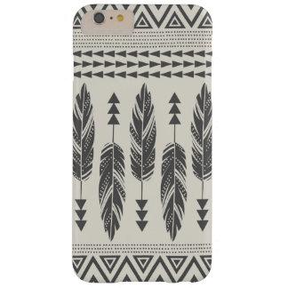 Negro y caso más del iPhone 6 tribales de las Funda Para iPhone 6 Plus Barely There