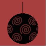 Negro y chuchería roja del navidad de Borgoña Escultura Fotografica
