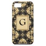 Negro y cordón del oro iPhone 5 Case-Mate carcasa