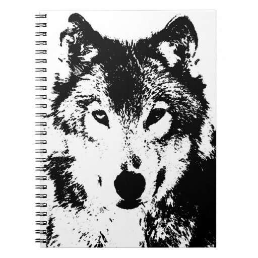 Negro y cuaderno del retrato de White Wolf