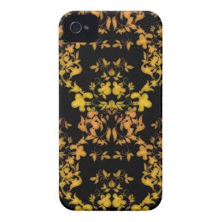 Negro y damasco del estilo del Victorian del iPhone 4 Case-Mate Cárcasas