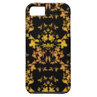 Negro y damasco del estilo del Victorian del iPhone 5 Funda
