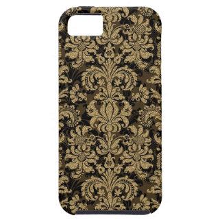 Negro y damascos florales de Brown modificados iPhone 5 Case-Mate Carcasas