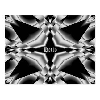 Negro y de plata góticos, hola postal