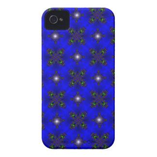 Negro y. Deco de especie en Retro Style verde azul Case-Mate iPhone 4 Cárcasas