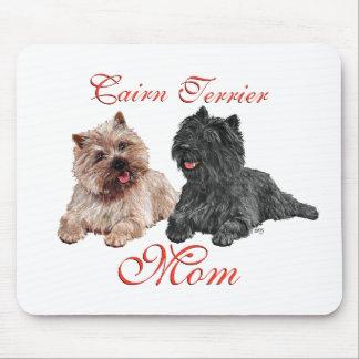Negro y día de madres de los terrieres de mojón de tapete de ratón