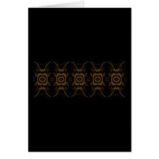 Negro y diseño del estampado de flores de Brown Tarjeta De Felicitación