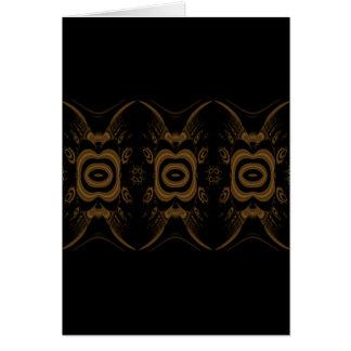 Negro y diseño del estampado de flores de Brown Tarjeta Pequeña
