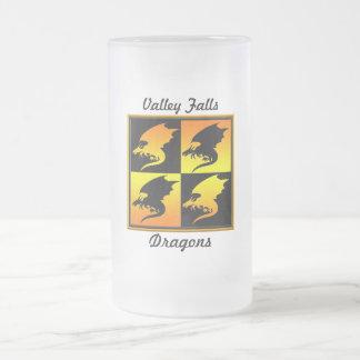 Negro y dragones del oro tazas de café