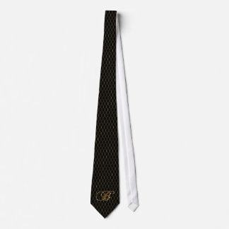Negro y el lazo de los hombres del oro corbatas personalizadas