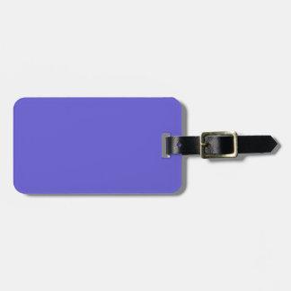 Negro y etiqueta azul del equipaje del Cornflower Etiquetas Bolsa