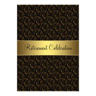 Negro y fiesta de retiro del oro comunicados personalizados