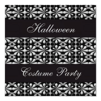 """Negro y fiesta gótico de Halloween de la elegancia Invitación 5.25"""" X 5.25"""""""