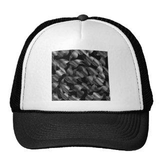 Negro y fondo abstracto de la plata con las hojas gorros
