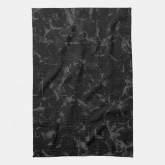 Negro y fondo abstracto gris oscuro toalla de mano