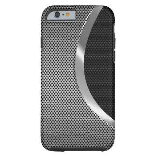 Negro y fondo metálico 2 del modelo del puré de la funda resistente iPhone 6