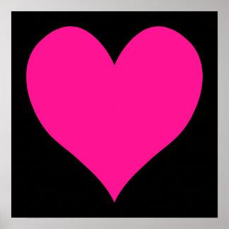 Negro y forma linda de color rosa oscuro del impresiones