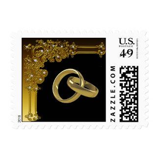 Negro y franqueo del boda del oro