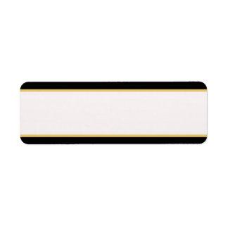 Negro y frontera del oro etiqueta de remite