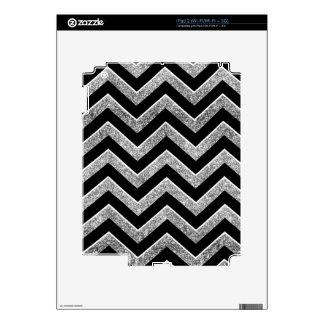 Negro y galón reluciente de la plata iPad 2 skins