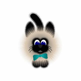 Negro y gato de Brown con el lazo del trullo Esculturas Fotográficas