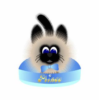 Negro y gato de Brown con el lazo en colores paste Esculturas Fotograficas