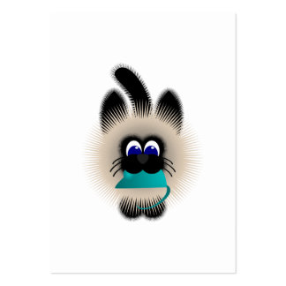 Negro y gato de Brown que lleva un ratón del Tarjetas De Visita Grandes