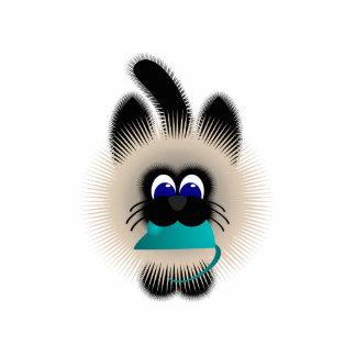 Negro y gato de Brown que lleva un ratón del trull Esculturas Fotograficas