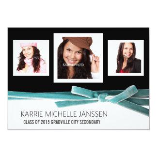Negro y graduado femenino de la foto de la invitación 11,4 x 15,8 cm