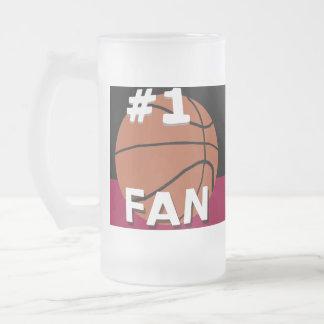 Negro y granate de la taza de la fan de baloncesto