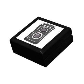 Negro y gris de la cámara del vintage cajas de regalo