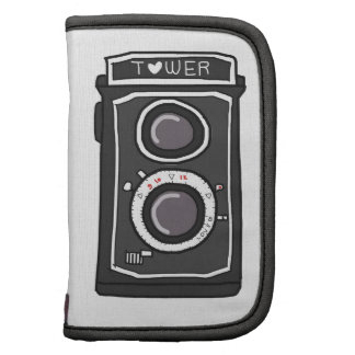 Negro y gris de la cámara del vintage planificador
