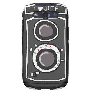 Negro y gris de la cámara del vintage samsung galaxy s3 cárcasas