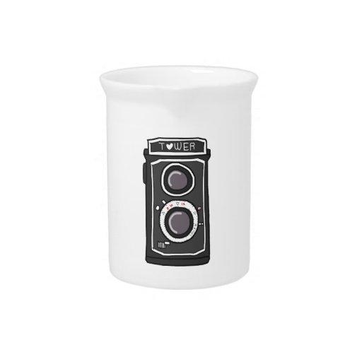 Negro y gris de la cámara del vintage jarras para bebida