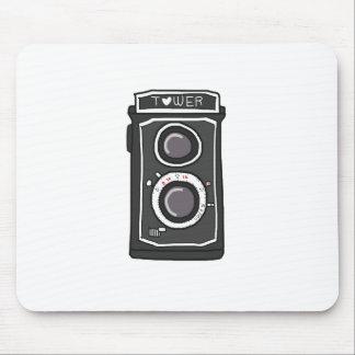 Negro y gris de la cámara del vintage tapete de ratones