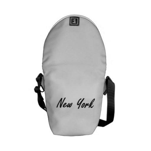 Negro y gris de New York City Bolsa Messenger