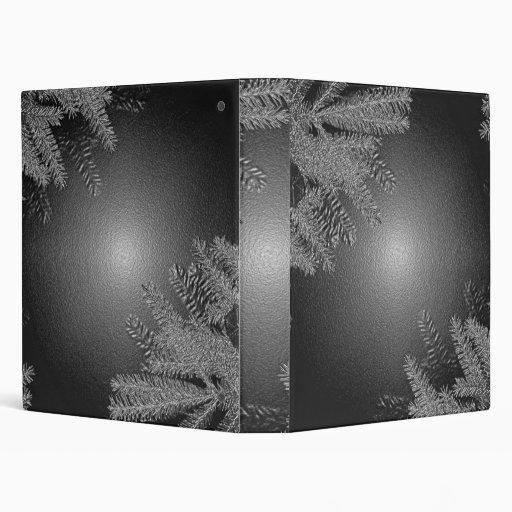 Negro y gris del Poinsettia del navidad