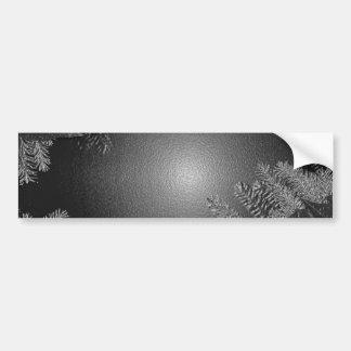Negro y gris del Poinsettia del navidad Pegatina Para Auto