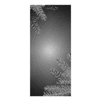 Negro y gris del Poinsettia del navidad Tarjetas Publicitarias A Todo Color