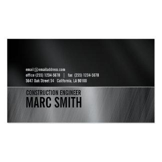 Negro y gris en el papel metálico tarjetas personales