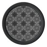 Negro y gris florales clásicos del modelo del juego de fichas de póquer