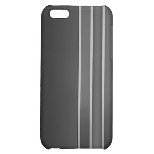 Negro y gris raya la caja de la mota del iPhone