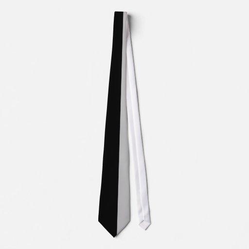 Negro y Gris-Rayado Corbata Personalizada