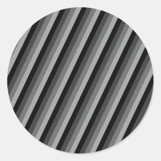 Negro y gris rayados pegatina