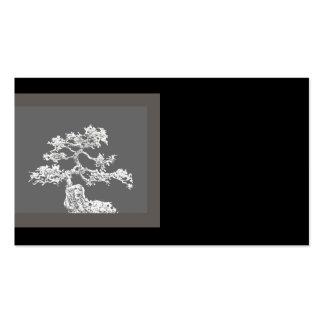 negro y gris únicos de la tarjeta de visita del ár